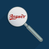 Answers and questions. Concept for answers and questions, finding truth and curiosity. Flat design illustration Royalty Free Stock Image