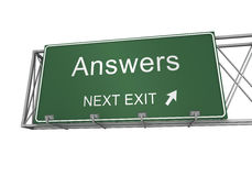 Answers road sign Stock Photo