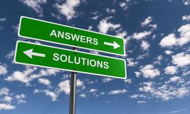 Answers and solutions Royalty Free Stock Image