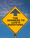 The Answers To Lifes Questions Stock Photo