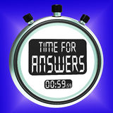 Answers Word On Clock Means Solution Knowledge And Wiki Royalty Free Stock Photos