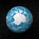 A Antártica na terra - 3D rendem