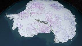A Antártica vista do espaço animation ilustração do vetor
