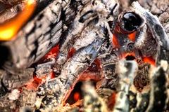Antända branden Värma den kalla vintern upp på nätterna Arkivbilder