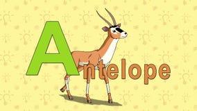 antílope Alfabeto inglés del PARQUE ZOOLÓGICO - letra A libre illustration