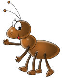 Ant. Isolated clip-art and children's illustration for yours design, postcard, album, cover, scrapbook, etc Royalty Free Stock Images