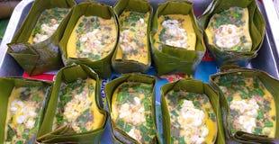 Ant Aggs Alimento locale tailandese thailand Alimento sconosciuto fotografia stock libera da diritti