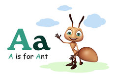 Ant with alphabate. 3d rendered illustration of Ant with alphabate Royalty Free Stock Photo