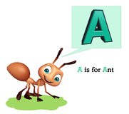 Ant with alphabate. 3d rendered illustration of Ant with alphabate Stock Image