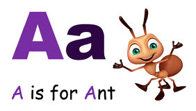 Ant with alphabate. 3d rendered illustration of Ant with alphabate Stock Photography