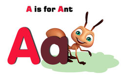 Ant with alphabate. 3d rendered illustration of Ant with alphabate Royalty Free Stock Photography