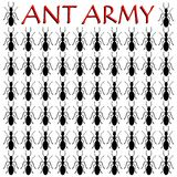 Ant Army - illustration. On white background Royalty Free Stock Photography