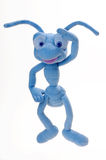 Ant. Blue plush toy ants on a white background Royalty Free Stock Images