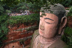 Ant Buddha dans Leshan, Sichuan, Chine Image stock