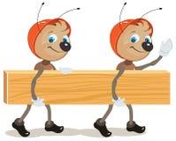 Ant Builder Due formiche sono bordo Fotografia Stock Libera da Diritti