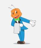 Ant butler. Vector illustration of ant butler mascot royalty free illustration