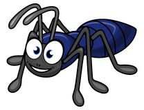 Ant cartoon. Illustration of isolated cartoon funny ant Royalty Free Stock Photos