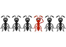 Ant cartoon characters Royalty Free Stock Photos