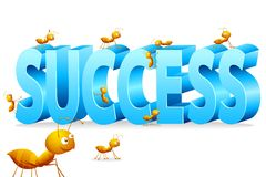 Ant Climbing on Success. Illustration of ants climbing on word success Royalty Free Stock Photo