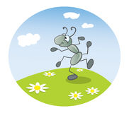 Ant dancing Royalty Free Stock Images