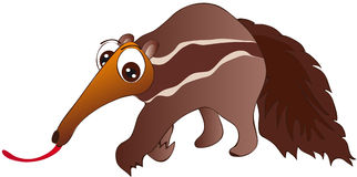 Ant-eater. Vector illustration shows a merry mrojada Royalty Free Stock Photography