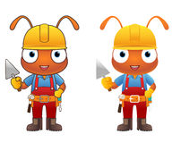 Ant Engineer cartoon character Stock Photo