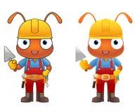 Ant Engineer-Zeichentrickfilm-Figur Stockfoto