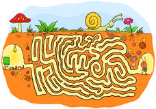 Ant going to school maze game for kids Royalty Free Stock Image