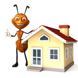 Ant with house Stock Images