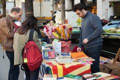 Ant Jordi è giorno di festa catalano di San Giorgio in Catalogna Fotografie Stock