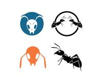 Ant Logo template vector illustration. Design stock illustration