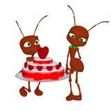 Ant in love Stock Photo