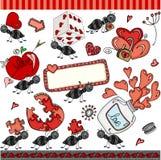 Ant love set digital elements Stock Images