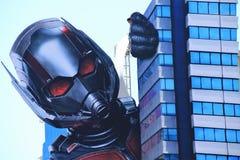 Ant Man e a premier da vespa fotografia de stock