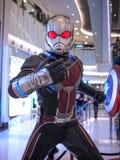 Ant Man i kapten America 3 Fotografering för Bildbyråer