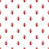Ant pattern, cartoon style Royalty Free Stock Photo