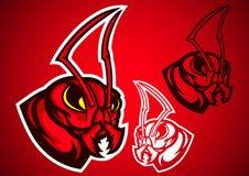 Ant red logo vector. Emblem illustration design idea creative Royalty Free Stock Images