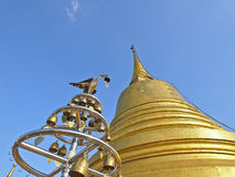 Ant's view of golden pagoda Royalty Free Stock Photo