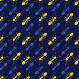 Ant Seamless Pattern Representing Teamwork régulier coloré Yel Illustration Stock