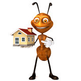 Ant showing house Royalty Free Stock Photography