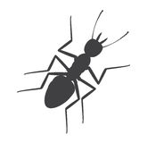 Ant Silhouette. Creepy Dangerous Ant Silhouette Vector Illustration Royalty Free Stock Images