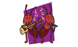 Ant sing a song Royalty Free Stock Images