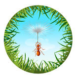 Ant in the sky Royalty Free Stock Images