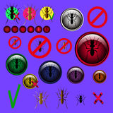 Ant and Stop ant sign symbols vector design Royalty Free Stock Photography