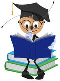 Ant Student reading book Royalty Free Stock Photos