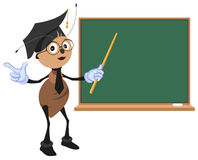 Ant teacher stands at blackboard Royalty Free Stock Images