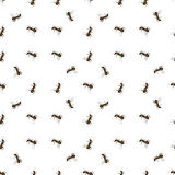 Ant on White Background. Seamless Animal Pattern. Ant on White Background stock illustration