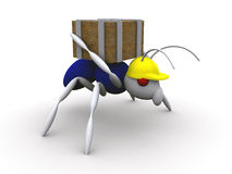 Ant Worker. 3d Ant Worker vector illustration