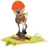 Ant Worker digging shovel pit Royalty Free Stock Image