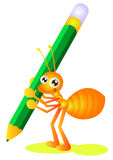 Ant writing Royalty Free Stock Images